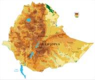 埃塞俄比亚物理地图 皇族释放例证