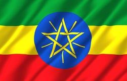 埃塞俄比亚现实旗子例证 皇族释放例证