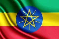 埃塞俄比亚现实旗子例证 向量例证