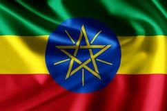 埃塞俄比亚现实旗子例证 库存例证
