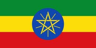埃塞俄比亚的旗子 库存例证