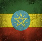 埃塞俄比亚的难看的东西旗子 皇族释放例证