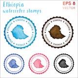 埃塞俄比亚邮票 向量例证