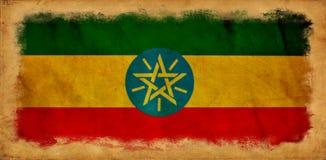 埃塞俄比亚难看的东西旗子 向量例证