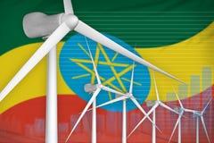 埃塞俄比亚风能力量数字图表概念-可更新的自然能工业例证 3d例证 皇族释放例证
