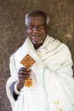 埃塞俄比亚,拉利贝拉,修士1月2015年,埃赛俄比亚的,社论 图库摄影