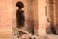 埃塞俄比亚, Lalibela。Moniolitic岩石裁减教会 免版税库存照片