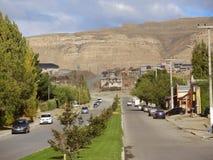 埃尔卡拉法特镇的街道,阿根廷。 免版税图库摄影