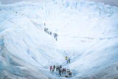 埃尔卡拉法特,阿根廷:佩里托莫雷诺冰川,埃尔卡拉法特,阿根廷2015年 库存图片