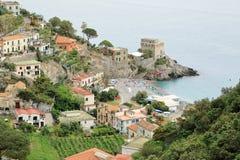 埃尔基耶,阿马尔菲海岸,意大利村庄  免版税图库摄影