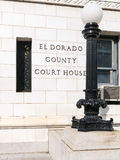 埃尔多拉多县,加利福尼亚法院大楼 库存图片