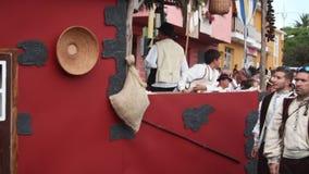 埃尔帕索,西班牙- 2018年8月18日:Fiesta皮诺del Virgen 股票录像
