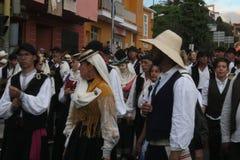埃尔帕索,西班牙- 2018年8月18日:Fiesta皮诺del Virgen 图库摄影