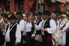 埃尔帕索,西班牙- 2018年8月18日:Fiesta皮诺del Virgen 免版税库存图片