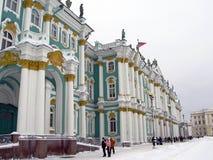 埃尔米塔日博物馆在冬天 库存照片