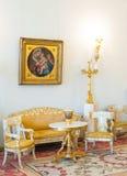 埃尔米塔日博物馆的音乐交谊厅 免版税图库摄影
