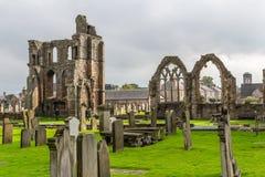 埃尔金大教堂废墟在北苏格兰 库存照片