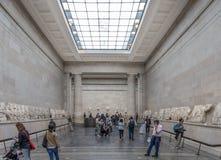 埃尔金大理石在大英博物馆中 免版税图库摄影
