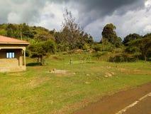 埃尔贡山雨季神色在非洲 库存图片