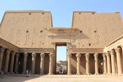 埃德富定向塔的内部看法  edfu埃及寺庙 库存图片
