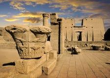 埃德富,埃及寺庙  库存照片