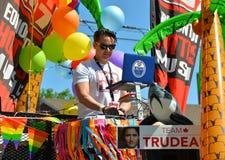 埃德蒙顿,加拿大6月10日2016年:人们庆祝自豪感 免版税库存照片