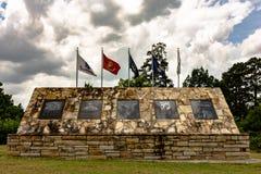 埃托瓦县战争纪念建筑 免版税库存照片