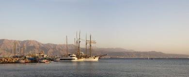 埃拉特,以色列,亚喀巴湾,红海。 库存照片