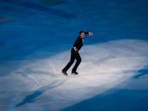埃文形象节目lysacek奥林匹克滑冰的美国 免版税库存图片