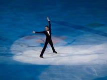 埃文形象节目lysacek奥林匹克滑冰的美国 图库摄影