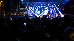 埃斯基谢希尔,土耳其- 2017年10月31日:著名流行音乐小组 免版税库存照片