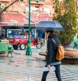 埃斯基谢希尔,土耳其- 2017年3月13日:走在街道的人们 图库摄影