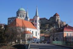 埃斯泰尔戈姆都市风景,匈牙利 库存图片