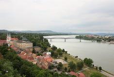 埃斯泰尔戈姆,多瑙河的,匈牙利城市 图库摄影