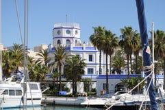 埃斯特波纳小游艇船坞,太阳海岸,西班牙 图库摄影