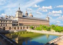 埃斯科里亚尔修道院宫殿,西班牙 免版税库存照片