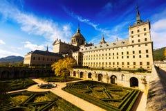 埃斯科里亚尔修道院,西班牙广角射击  图库摄影