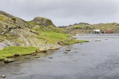 埃格尔松Fyr在挪威 免版税库存图片
