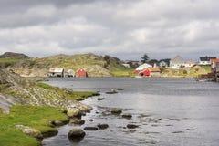 埃格尔松Fyr在挪威 图库摄影