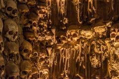 埃武拉,葡萄牙- 2014年4月30日:骨头的教堂在埃武拉 免版税库存图片