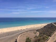 费埃特文图拉岛海滩视图 库存图片