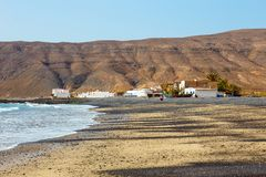 费埃特文图拉岛的,加那利群岛,西班牙小渔村 图库摄影