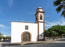 费埃特文图拉岛-教会在安提瓜岛 免版税库存图片