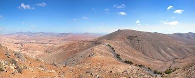费埃特文图拉岛-从Morro de la Cruz的全景 库存照片