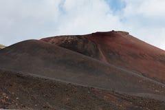 埃特纳火山。西西里岛。 免版税库存照片