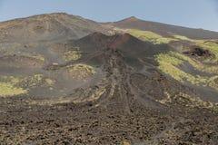 埃特纳火山在春天喷发了 免版税库存图片