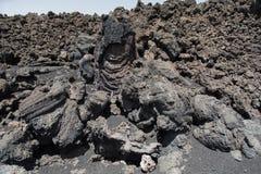 埃特纳火山在春天喷发了 免版税库存照片