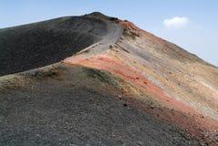 埃特纳火山武尔卡诺岛在西西里岛的 库存照片