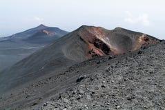 埃特纳火山武尔卡诺岛在西西里岛的 图库摄影