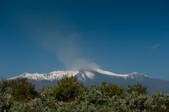 埃特纳火山 图库摄影